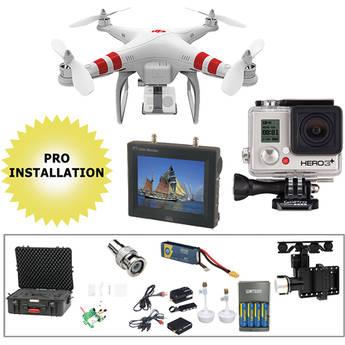 DJI Phantom 1.1 w/ Gimbal, Wireless Video, Monitor, HERO3+ Silver, & Case