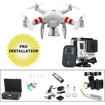 DJI Phantom 1.1.1, Gimbal, Wireless Video Kit, GoPro HERO3+ Black, & Case