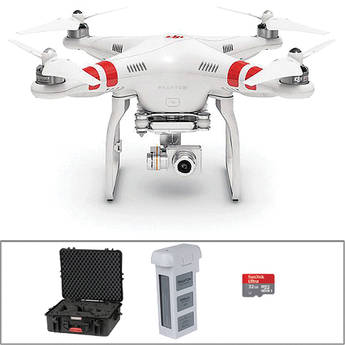 DJI Phantom 2 Vision+ v2.0 Quadcopter with Hard Case and Extra Battery Bundle