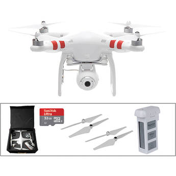 DJI Phantom 2 Vision with Spare Battery, Spare Props and Backpack