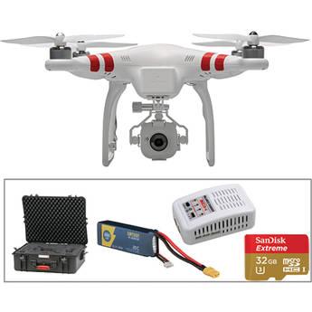 DJI Phantom FC40, Spare Battery, Spare Changer, 32GB Card + Hard Case Kit