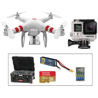 DJI Phantom 1.1.1, GoPro HERO4 Black, Spare Battery, 32GB Card + Case Kit