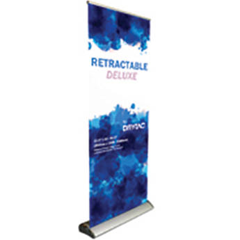 """Drytac The Retractable Deluxe Roll-Up Banner Stand (33.5 x 86.6"""", Pack of 4)"""