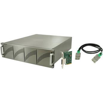 Dulce Systems PRO RX 16ex 64TB (16 x 4TB) 16-Bay RAID Storage Array (Light Gray)