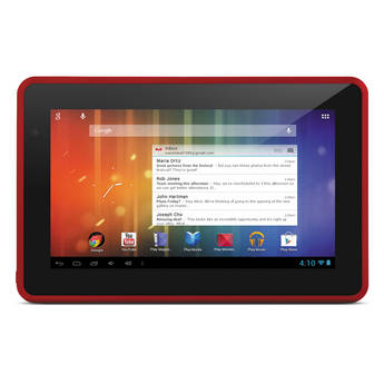 "Ematic 4GB Genesis Prime 7"" Multi-Touch Tablet (Red)"