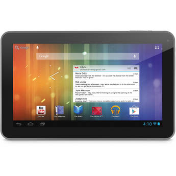 """Ematic 4GB Genesis Prime XL 10"""" Multi-Touch Tablet (Gray)"""