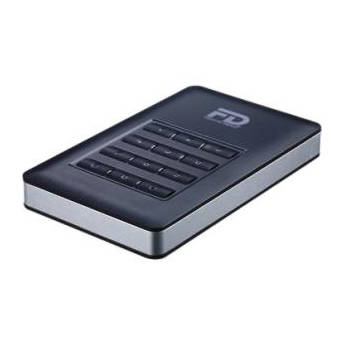 Fantom DataShield 256-bit AES Hardware Encrypted Portable USB 3.0 External Hard Drive (500GB)