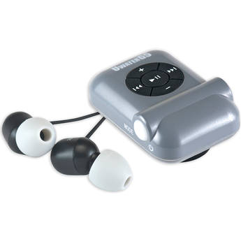 Fitness Technologies UWaterG5 4GB Action MP3 Player with FM Radio (Metallic Gray / Black)