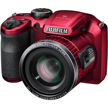 Fujifilm FinePix S6800 Digital Camera (Red)