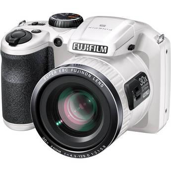 Fujifilm FinePix S6800 Digital Camera (White)