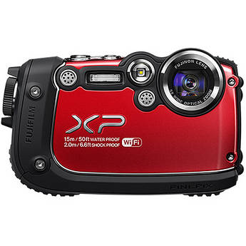 Fujifilm FinePix XP200 Digital Camera (Red)