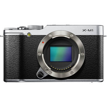 Fujifilm X-M1 Mirrorless Digital Camera Body (Silver)