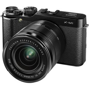 Fujifilm X-M1 Mirrorless Digital Camera with Black XC 16-50mm f/3.5-5.6 OIS Lens (Black)