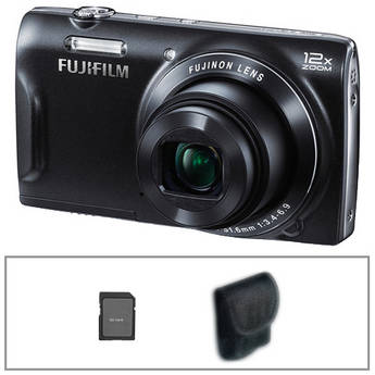 Fujifilm FinePix T550 Digital Camera Basic Kit (Black)