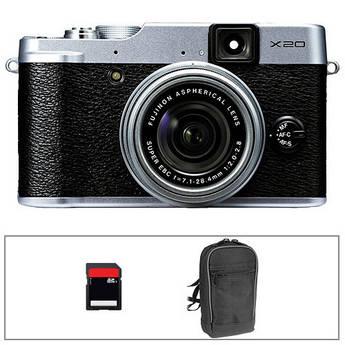 Fujifilm X20 Digital Camera Basic Kit (Silver)