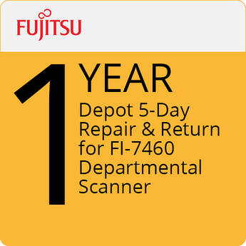 Fujitsu 1-Year Depot 5-Day Repair & Return for FI-7460 Departmental Scanner