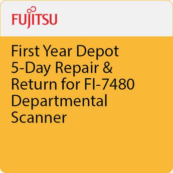 Fujitsu First Year Depot 5-Day Repair & Return for FI-7480 Departmental Scanner