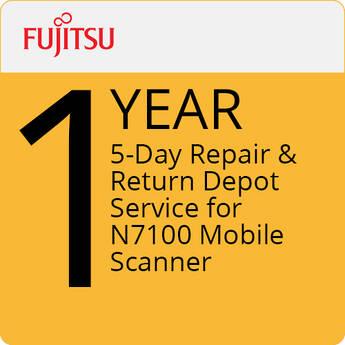 Fujitsu 5-Day Repair & Return Depot Service for N7100 Mobile Scanner (1-Year)