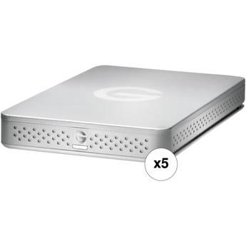G-Technology 1TB G-Drive ev Portable USB 3.0 HDD (5-Pack)