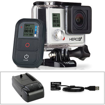 GoPro GoPro HERO3+ Black Edition with Wall Charger and Battery Eliminator