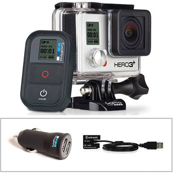 GoPro GoPro HERO3+ Black Edition with Car Charger and Battery Eliminator