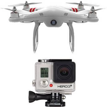 GoPro HERO3: Silver Edition Camera & Phantom Quadcopter with GoPro Mount Kit