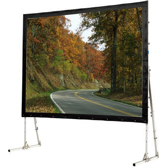 "GrandView LS-ZD235WWW3R Super Mobile 125 x 199"" Folding Projection Screen"