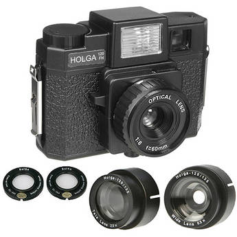 Holga 120FN with Lens Adapters Kit