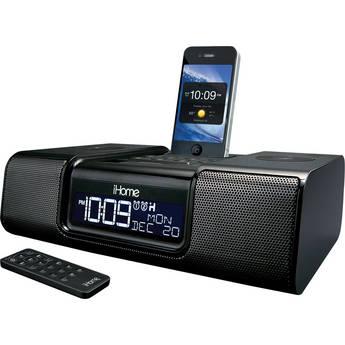 iHome iA9 App-Enhanced Dual Alarm Clock Radio for iPhone/iPod (Black)