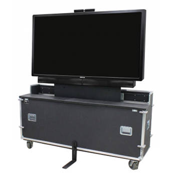 """InFocus Wheeled ATA Lift Case for 57"""" and 65"""" Displays"""