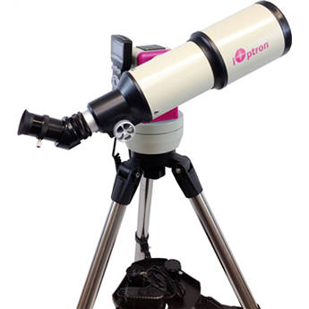 iOptron Cube-G-R80 SmartStar 80mm f/5 Refractor Telescope with GoTo Mount (Pulsar Pink)