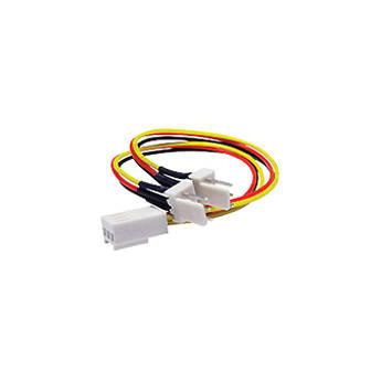 iStarUSA 3-Pin Female to Double 3-Pin Male Fan Splitter Y Cable