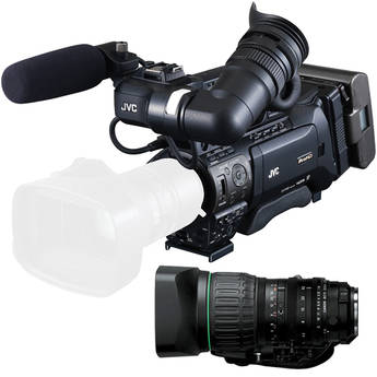 JVC GY-HM890 ProHD Shoulder Mount Camcorder with Canon KT14X44KRS Lens