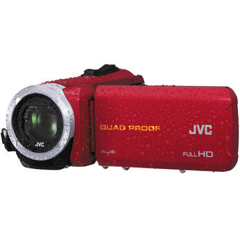 JVC GZ-R10RE Quad-Proof HD Camcorder (PAL, Red)