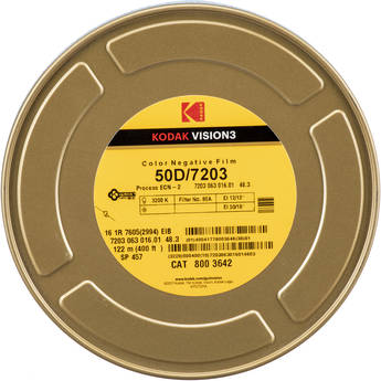 Kodak VISION3 50D Color Negative Film #7203 (16mm, 400' Roll)
