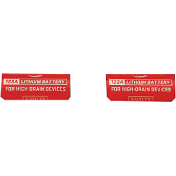 Laser Ammo Replacement 3V CR123A Lithium Battery for Laser Training Pistol (2-Pack)