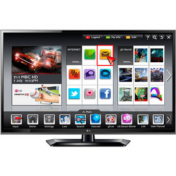 """LG 60LS579C 60"""" LED Prosumer Widescreen Smart HDTV (Glossy Black)"""