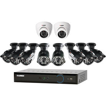 Lorex Eco Blackbox3 16-Ch 2TB HDD DVR with Eight Bullet and Two Dome Cameras