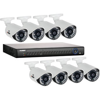 Lorex LH1462001 16-Channel 2TB HDD DVR with 8 Outdoor Night Vision Cameras