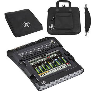 Mackie DL806 iPad-Controlled 8-Channel Lightning Connector Digital Live Sound Mixer with Mixer Bag and Mixer Cover