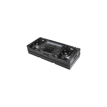 Marathon MA-CDJ2K19WBLK Flight Road Coffin Case (Black)