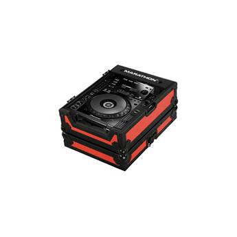 Marathon MA-CDJ900BLKRED Flight Road Large Format CD/CDJ Player Case (Red and Black)