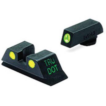 MEPROLIGHT LTD Tru-Dot Tritium Night Sight Set for Glock 10mm/.45ACP (Yellow / Green)