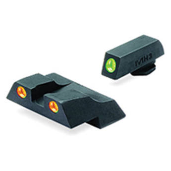 MEPROLIGHT LTD Tru-Dot Tritium Night Sight Set for Glock G26 / G27 (Orange / Green)