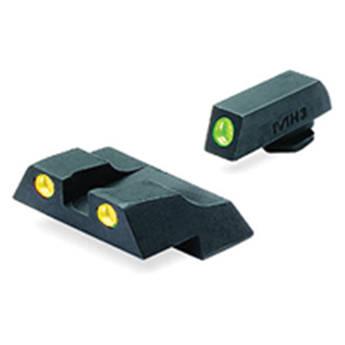 MEPROLIGHT LTD Tru-Dot Tritium Night Sight Set for Glock G26 / G27 (Yellow / Green)