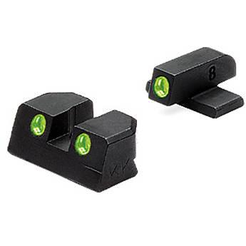 MEPROLIGHT LTD Tru-Dot Tritium Night Sight Set for Bersa Thunder 9/40 Pro (Green / Green)