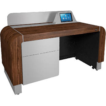 Middle Atlantic L7 Lectern: Adjustable Height Frame,Wood (Montana Walnut with Silver Accents)
