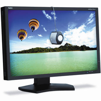 "NEC PA242W-BK-SV 24"" Professional Wide Gamut LED Desktop Monitor"