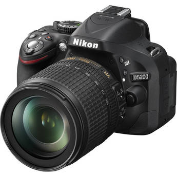 Nikon D5200 Digital SLR Camera with 18-105mm Lens (Black)