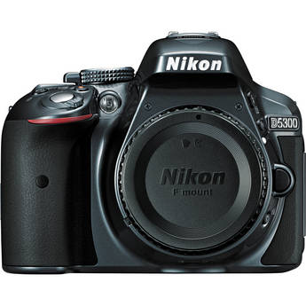 Nikon D5300 DSLR Camera (Body Only, Gray)